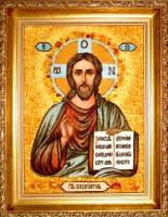 Янтарная икона Венчальная (8)