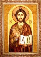 Янтарная икона Венчальная (9)