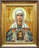 Янтарная икона Вероника (Виринея)