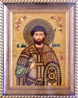 Янтарная икона Виктор 1