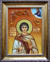 Янтарная икона Виталий