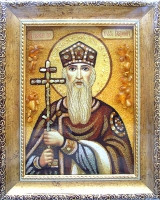 Янтарная икона Владимир 2