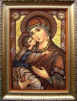 Янтарная икона Владимирская (27)