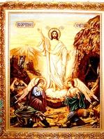 Янтарная икона Воскресение Господне (10)