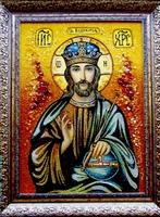 Янтарная икона Вседержитель (23)