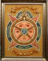 Янтарная икона Всевидящее Око 31
