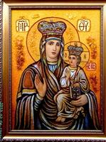 Янтарная икона Зарваницкая (11)
