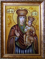 Янтарная икона Зарваницкая (28)