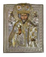 Икона живописная Николай Чудотворец в короне