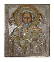 Икона живописная Николай Чудотворец нимб