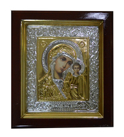 Икона Дева Мария с Младенцем 19х22