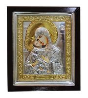 Икона Дева Мария с Младенцем 24х28