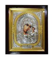 Икона Мария с Младенцем золотистая