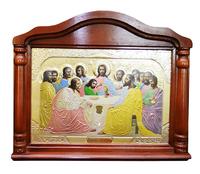 Икона храмовая Тайная Вечеря рамка арка