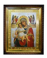 Икона храмовая Дева Мария с Младенцем ангелы