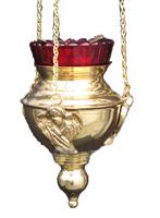 Лампада с херувимом подвесная