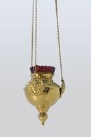 Лампада с херувимом позолоченная  (диаметр)120