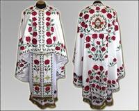 Облачение белое вышивка Иерейское парча бархат льен