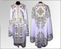 Облачение белое Иерейское парча бархат льен вышивка