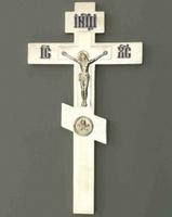 Крест напрестольный №2 никель Софрино