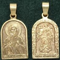 Нательная икона Анна бронза