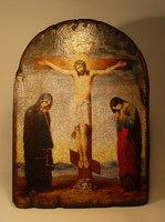 Икона Распятие под старину арка