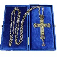 Крест наперсный серебренный МР-КРСВ-04-А