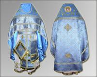 Облачение голубое Иерейское парча бархат габардин
