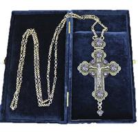 Крест наперсный серебренный МР-КРСВ-02-Л