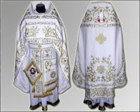 Вышивка облачение белое Иерейское льен парча габардин