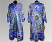Паламарская риза синяя вышивка