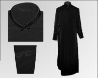 Черный подрясник габардин вышивка