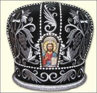 Черная митра без креста арка