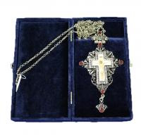 Крест наперсный серебренный МР-КРСВ-05-Г