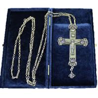 Крест наперсный серебренный МР-КРСВ-04-Л