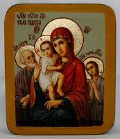 Писанная икона Богородица с младенцем в шкатулке