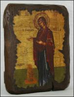Икона под старину Богородица красная накидка