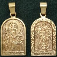 Нательная икона Лариса бронза