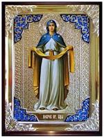 Покров Пресвятая Богородица в синем 004