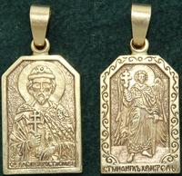 Нательная икона Ростислав бронза