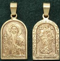 Нательная икона София бронза
