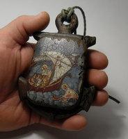 Корабельная икона в форме якоря Николай Чудотворец