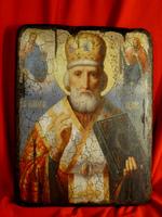 Икона под старину Святой Николай Чудотворец