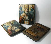 Икона под старину Святой Николай Чудотворец в митре
