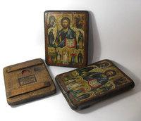 Икона под старину Спаситель и святые