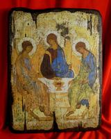 Икона под старину Святая Троица