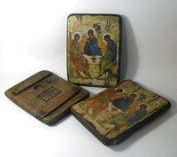 Икона под старину Святая Троица стол