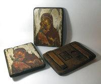 Икона под старину Икона Божией Матери Владимирская