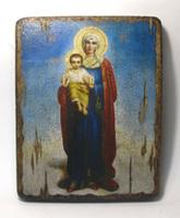 Икона под старину  Благодатное Небо Пр.Бц.