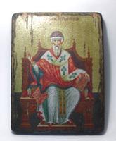 Икона под старину  Спиридон Тримифунтский